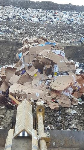 Commercial Cardboard Load